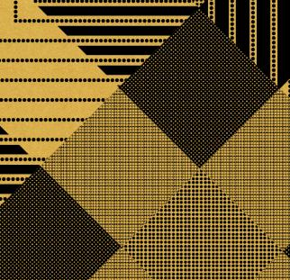 פאטרן זהב שחור זהב