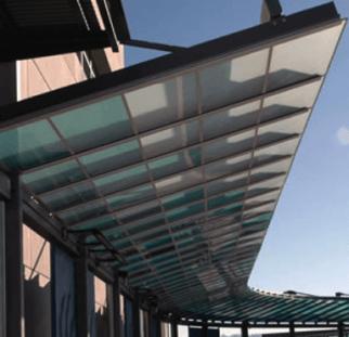 פרגולה חיפוי זכוכית  (1)