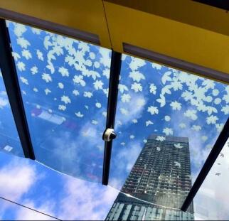 פרגולה מקורה בכניסה מזכוכית