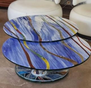 שולחן זכוכית