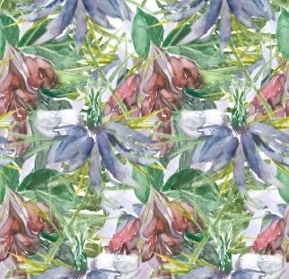 אבסטרקט פרחים צבעוניים