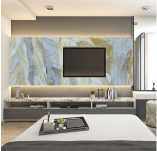 special glass living room wall cladding